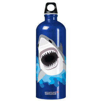 Shark Attack Add Your Own Name Water Bottle