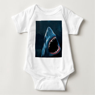 Shark attack baby bodysuit