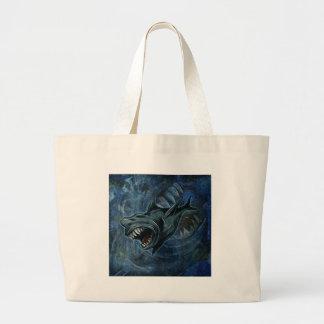 Shark Attack Canvas Bag