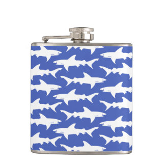 Shark Attack - Blue and White Flasks