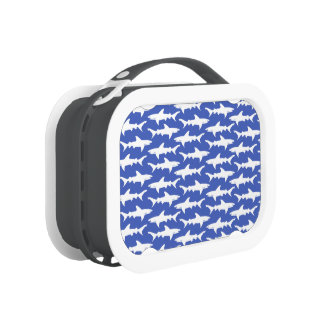 Shark Attack - Blue and White Lunch Box