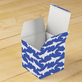 Shark Attack - Blue and White Party Favor Boxes