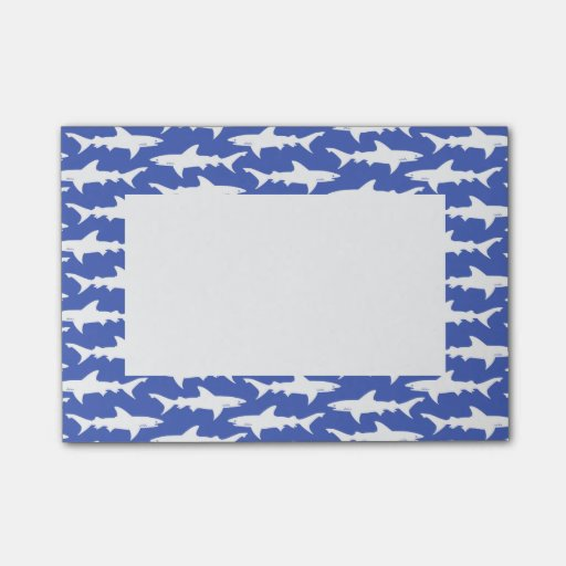 Shark Attack - Blue and White Post-it® Notes