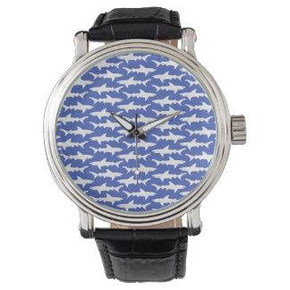 Shark Attack - Blue and White Watches