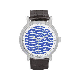 Shark Attack - Blue and White Wristwatch