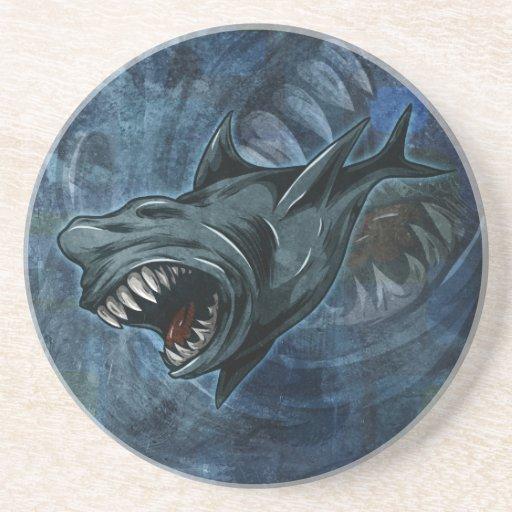 Shark Attack! Beverage Coasters