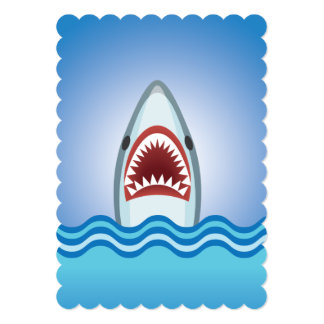 Shark Attack Dive Club Event or Party on a Boat Card