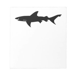 Shark Attack - Diving with Sharks Elegant Black Notepad