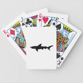 Shark Attack - Diving with Sharks Elegant Black Bicycle Poker Deck