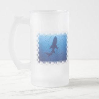 Shark Attack Frosted Beer Mug