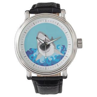 Shark Attack - Great White Shark Wrist Watches