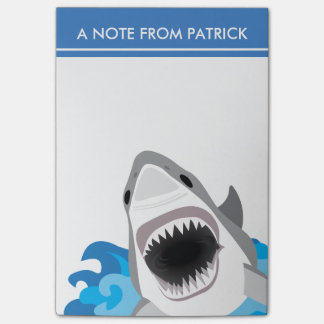 Shark Attack - Great White Shark with Open Jaws Post-it® Notes