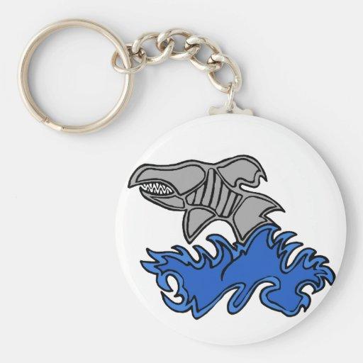 Shark attack key chain