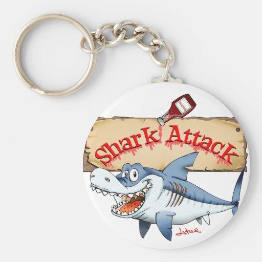 shark attack key chains