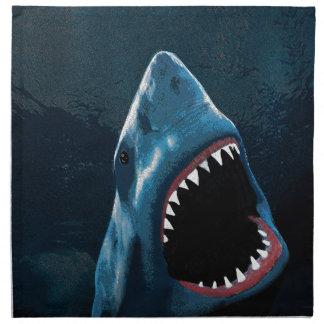 Shark attack napkin