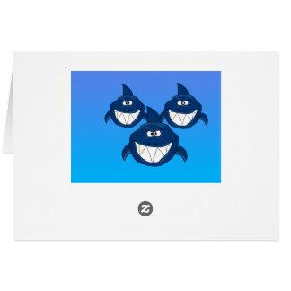 Shark attack note card