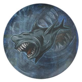 Shark Attack Plates