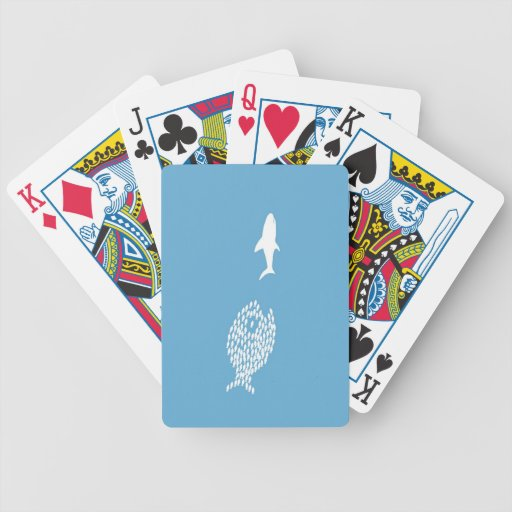 Shark attack bicycle poker cards