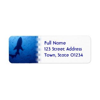 Shark Attack Return Address Mailing Label Return Address Label