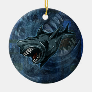 Shark Attack! Round Ceramic Decoration