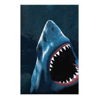 Shark attack stationery