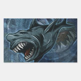Shark Attack Rectangular Sticker