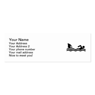 Shark attack swimmer business card templates