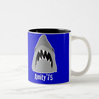 shark attack Two-Tone mug