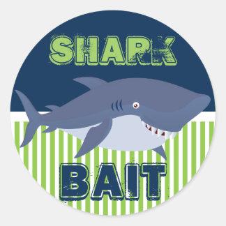 Shark Bait Round Sticker
