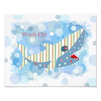 Shark Bathroom Print Art Photo