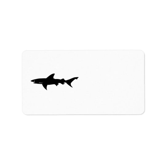 Shark  Beware of Sharks Drawing Address Label