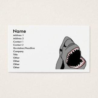 Shark bite business card