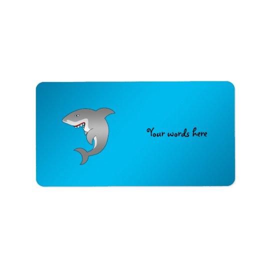Shark blue background address label