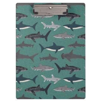 Shark Boys Green Ocean Animals / Andrea Lauren Clipboards