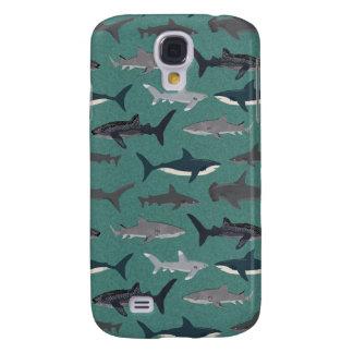 Shark Boys Green Ocean Animals / Andrea Lauren Galaxy S4 Cover