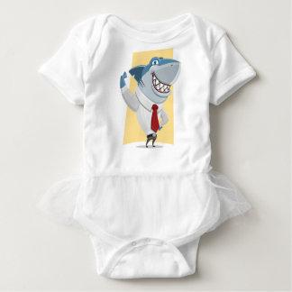 shark cartoon baby bodysuit