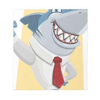 shark cartoon notepad