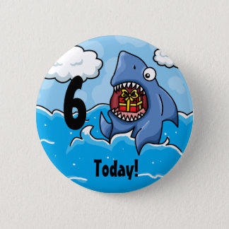 Shark Customisable birthday badge
