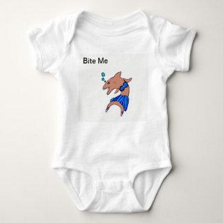 Shark dancer baby bodysuit