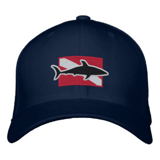 Shark Diver cap Embroidered Hat