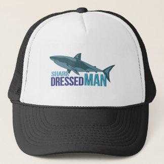 Shark Dressed Man Trucker Hat