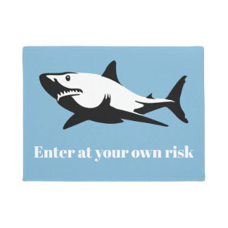 Shark - Enter at your own risk Doormat