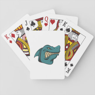 Shark Face Funny Funny Gift Playing Cards