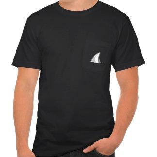 Shark fin pocket t shirt