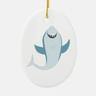 Shark Fish Ceramic Ornament