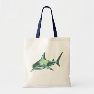 shark fish, wild animals tote bag