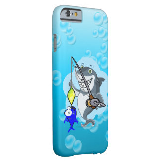 Shark fishing a fish cartoon barely there iPhone 6 case