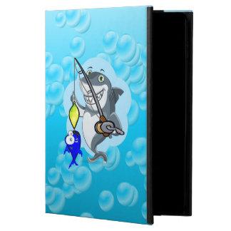 Shark fishing a fish cartoon powis iPad air 2 case