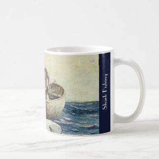 Shark Fishing - Homer Winslow 1885 Coffee Mug