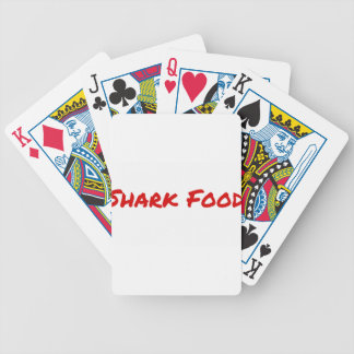 Shark Food Red Bicycle Playing Cards